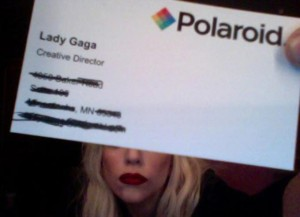 Lady Gaga Business Card