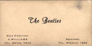 The Beatles Business Card